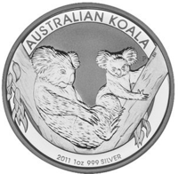 Австралийская монета Коала 2011