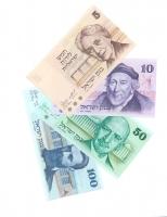 Набор банкнот Израиль 1973 год (5, 10, 50, 100 шекелей)