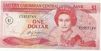 Восточные Карибы, 1 доллар, 1985 г