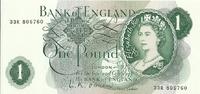 Великобритания, 1 фунт стерлингов, 1960-77 гг