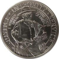 """США, 1 доллар, 2015 год, """"Служба федеральных маршалов"""""""