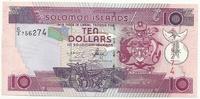 Соломоновы острова, 10 долларов, 2008 г