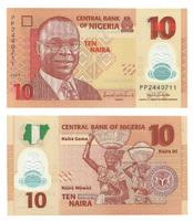 Нигерия 10 найра 2009-2019 гг