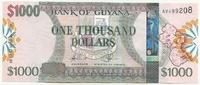 Гайана, 1000 долларов, 2011 г