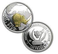 Конго, 120 франков, 2013 год, большая пятерка, 1/2 oz