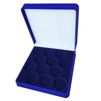 Коробка на 12 монет в капсулах (диаметр 44 мм)