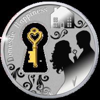 """Монета """"Семейное счастье"""" с позолоченным ключиком"""