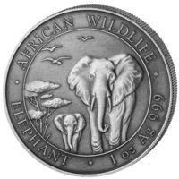 """""""Слон"""" - серия """"Дикая природа Африки"""" (Antique finish)"""
