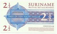 Суринам, 2 1/2 доллара, 2004 г