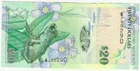Бермудские острова, 20 долларов, 2009 год