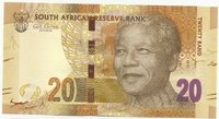ЮАР, 20 рандов, 2012 год, Нельсон Мандела