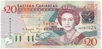 Восточные Карибы, 20 долларов, 2008 г