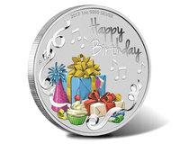 """""""С Днем Рождения"""" - монета в подарочном футляре"""