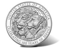 """""""100-летие клуба """"Львы"""", 1 доллар США 2017 год - Lions Clubs Silver Dollar"""
