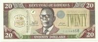 Либерия, 20 долларов, 2011г