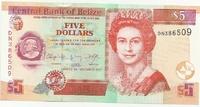 Белиз, 5 долларов, 2011 г