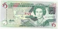 Восточные Карибы, 5 долларов, 2008 г