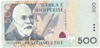 Албания, 500 лек, 2001 г