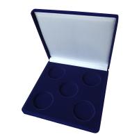 Коробка на 5 монет в капсулах (диаметр 44 мм) квадратная