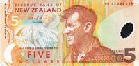 Новая Зеландия, 5 долларов, 2009 год, полимер