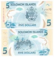 Соломоновы острова 5 долларов 2019