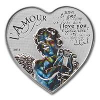 Любовь сердца (монета с ангелом) - голограмма