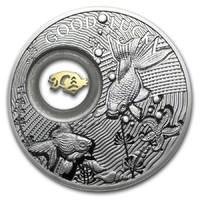 Золотая рыбка - Монета на удачу в подарочном блистере