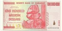 Зимбабве, 100 миллионов долларов, 2008г