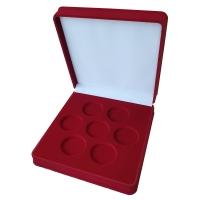 Коробка на 7 монет в капсулах (диаметр 44 мм)