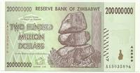 Зимбабве, 200 миллионов долларов, 2008г