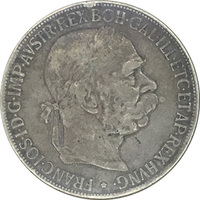 Австро-Венгрия,  5 крон, 1900 г.,  Франц Иосиф I, серебро