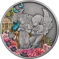 Ангел-служитель - монета с кристаллом Swarovski