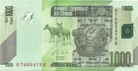 Конго, 1000 франков, 2013 год