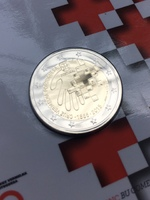 "2 евро Португалия 2015 - ""150 лет Красному Кресту"" в блистере"