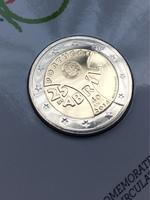 """2 евро Португалия 2014 - """"40-летие Революции гвоздик"""" в блистере"""