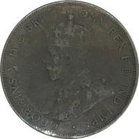 Австралия, 1 пенни, 1922 год, бронза