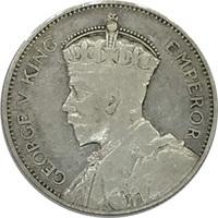 Фиджи, 1 шиллинг, 1936 год, Георг V, серебро