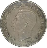 Австралия, 1 крона, 1937 г., король Георг VI, серебро