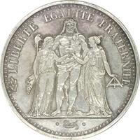 Франция,10 франков, 1966 г., Геркулес и нимфы, серебро