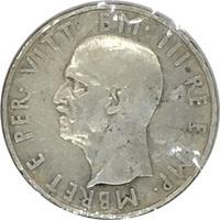 Албания, 5 лек, 1939 год, серебро