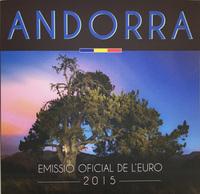 Набор евро Андорра (8 шт.) в блистере, 2015 год