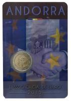 Андорра, 2 евро, 2015 год, 25-летие подписания таможенного соглашения с ЕС
