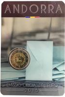 Андорра, 2 евро, 2015 год, 30-летие принятия возраста совершеннолетия в 18 лет