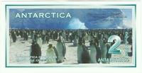 Антарктика, 2 доллара, 1996 год.