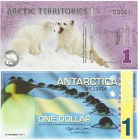1 polar dollar, Antarctica (Антарктика), 2011 год
