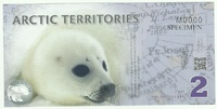 Арктика, 2 доллара, полимер
