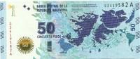 Аргентина, 50 песо, 2015 год. Юбилейная