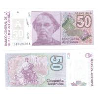 Аргентина 50 аустрал 1985-1989 гг