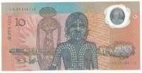 Австралия 10 долларов 1988 год (первая полимерная банкнота в мире)