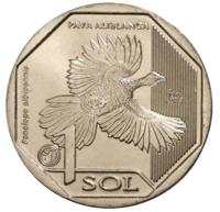 Белокрылый гуан, 1 соль, Перу, 2018 год